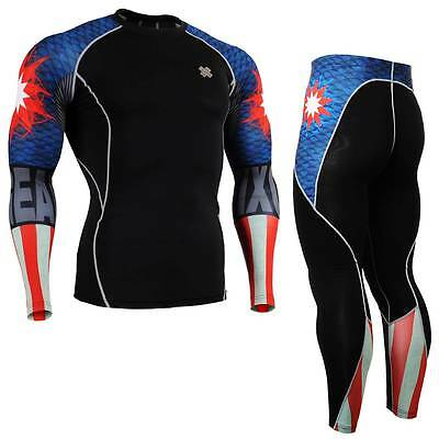 FIXGEAR C2S//P2S-B40 SET Compression Shirts /& Shorts Skin-tight MMA Training Gym