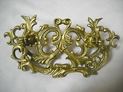"Antique Victorian Heavy Cast Brass Drawer Pull 3"" Centers"