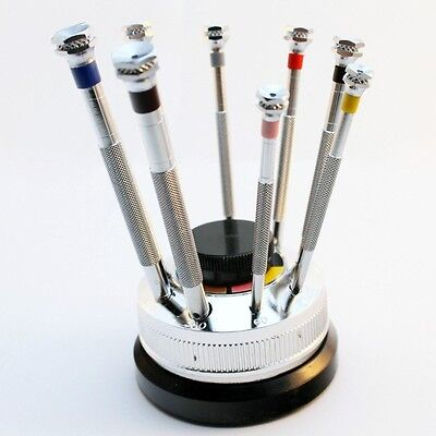 Screwdriver Set Of 9 On Revolving Stand Import (38-530-50)
