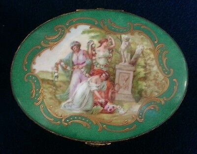 Sevres French Porcelain Jewelry Box