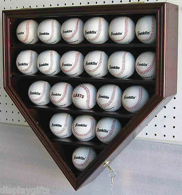 ULTRA Clear 21 Baseball display Case  Cabinet Wall Shadow Box, UV Protection