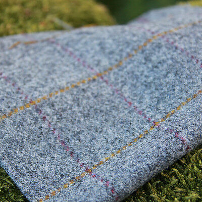 Harris Tweed Curtain/Upholstery Fabric - Huntsman Check - Slate Grey