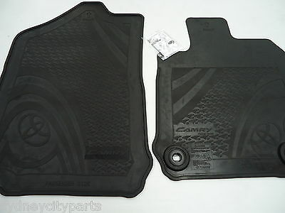 Toyota Camry Floor Mats Atara Front Rubber Pair Oct 11 - Oct 17 New Genuine