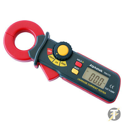 Alphatek TEK775 Mini AC Earth Leakage Current Clamp Meter Tester 200mA - 200A
