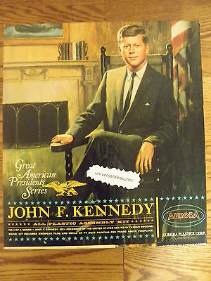 1965 John F. Kennedy JFK Aurora Plastic kit Great American Presidents Mint boxed