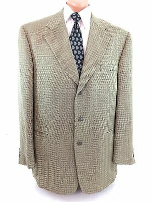 Fabulous Terzo Uomo Mens Wool & Silk Suit Jacket Sport Coat Size 44 L