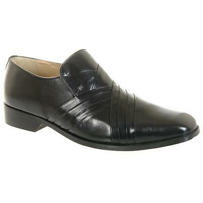 Mens Black Leather Slip On Designer Formal Shoes Size AU Sizes 6 7 8 9 10 11 12