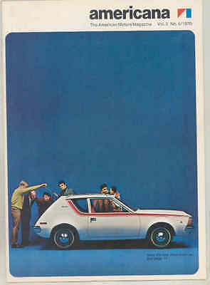 1970 AMC Americana Magazine Brochure Vol5#4 Javelin Mark Donahue Gremlin wt7271