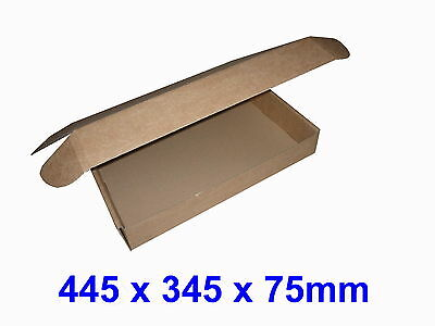 Small Parcel Cardboard Postal Boxes, PIP - 445 x 345 x 75mm Brown or White