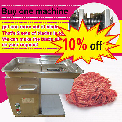 10% off,two custom blade,Stainless steel meat slicer/cutter,meat cutting machine