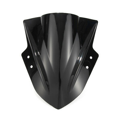 Double Bubble Windshield WindScreen for Kawasaki Ninja 300 EX300 2013-2017 Black