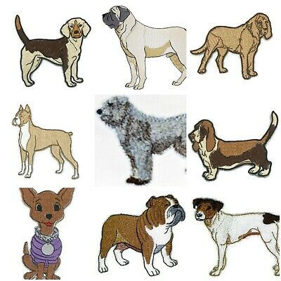 Beautiful Dog Embroidery Iron On Patches  Collection : (B - C)