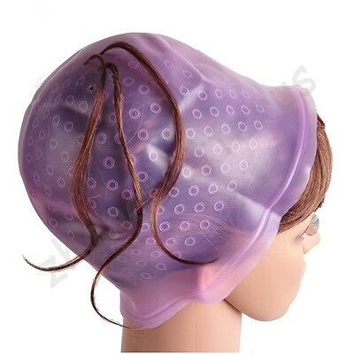 New Women's Professional Reusable Hair Colouring Highlighting Cap Hook Salon