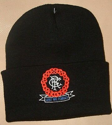 Glasgow Ulster Rangers Supporters Ski Hat Poppies