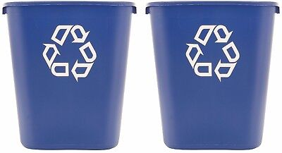 Rubbermaid Deskside Recycling Container Blue 28 1/8 qt - Brand New Item