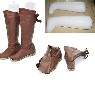 1 Pair Inflatable Long Boot Shoes Stand Holder Stretcher Support Shaper Plastic