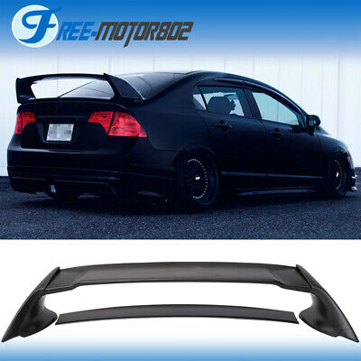 For 06-11 Honda Civic 4Door Sedan Mugen Rear Trunk Spoiler Wing ABS 06 07 08 09