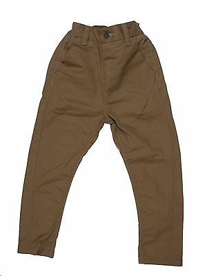 Boy's NEXT chinos trousers skinny twisted carrot fit BNWOT sand color