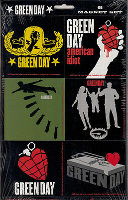 Green Day: American Idiot Album Magnet Set Of 6 - New Official & Sealed On Card