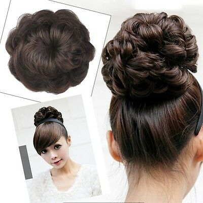 HOT SALE Girl's Lady Woman WAVE Hairpiece Hair Bun Extensions BP15