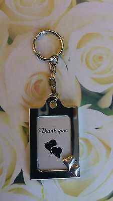 Lot of 25 Memorable Moments DoubleHeart Design Keychain Photo Frame Wedding Favo
