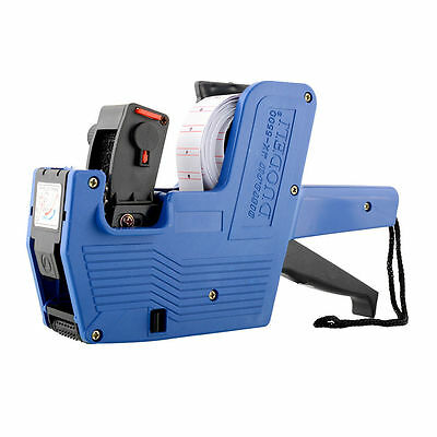 MX-5500 EOS 8 Digits Price Tag Gun Labeler Labeller Including Ink Roller-- Blue