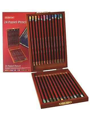 Derwent Pastel Pencils Box Set 24 Pastel Pencil Derwent Colouring Pastel Pencil