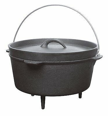 Barbecook Cast Iron Kettle Pot Dutch Oven 3 L - New - UK Retailer  Free Delivery