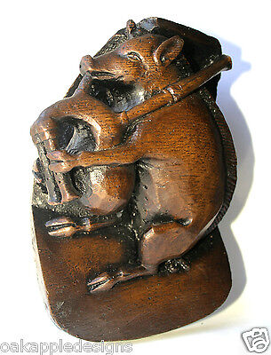 Pig Bagpipes Medieval Ripon Cathedral Carving Musical Piggy Gift Lewis Carroll