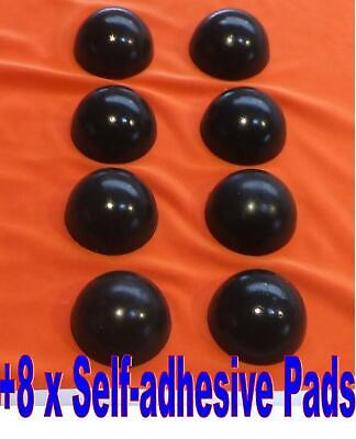 8 x 19 mm. Diameter Sorbothane Isolation Feet. Improve Hi-Fi Sound Reproduction