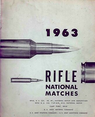 M-14, M-I National Match Specs, 1963 Camp Perry