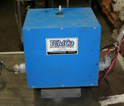 Temco Tower Electric Motor Company 6500 Series Rotary Phase Converter