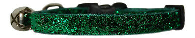 green pink red purple blue turquoise brown silver gold sparkle safety cat collar