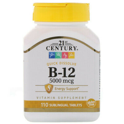 21st Century, Sublingual Vitamin B12 5000mcg x110tabs - SUPERIOR ABSORPTION!!!