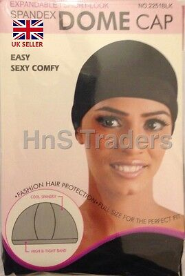 Womens Spandex Dome Cap Flexible Breathable Material #2251BLK Fits Almost All**