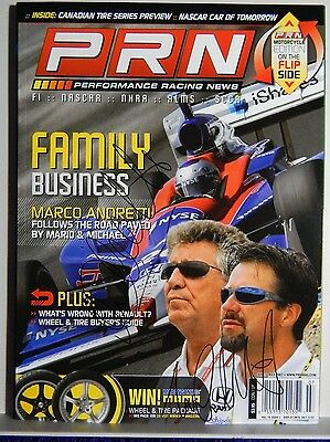 Autographed Prn  Magazine June/july 07 Indy Drivers Michael& Marco Andretti