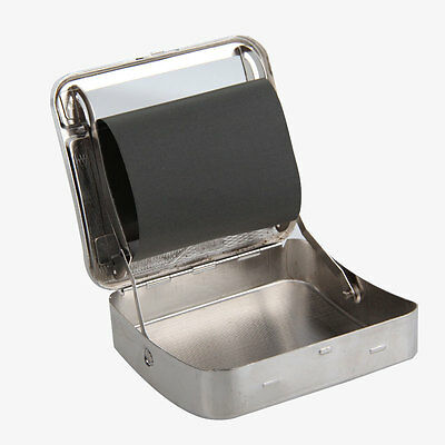 Stainless Steel Automatic Cigarette Roller Rolling Machine Box Case Silver Color