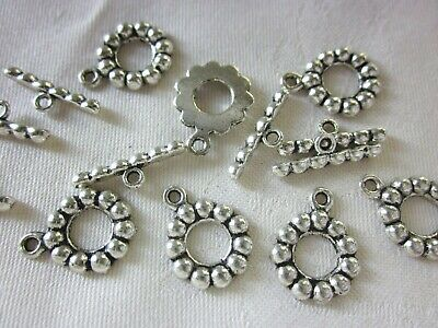 5 Antique Silver Coloured 18x14mm Toggle Clasps #121 Combine Post-See Listing