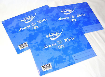 New Set Of 3 A5 Learn To Write Exercise Books Handwriting Practice Blue B2