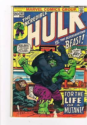 Hulk # 161  For the Life of a Mutant ! vs the Beast grade 3.0 scarce hot book !!