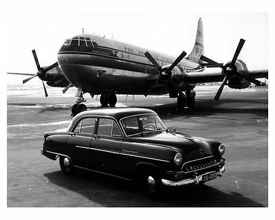 1953 Opel Kapitan Pan Am Clipper Airplane Factory Photo c9926
