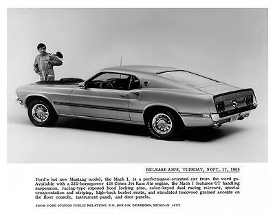 1969 Ford Mustang Mach I Factory Photo c9933