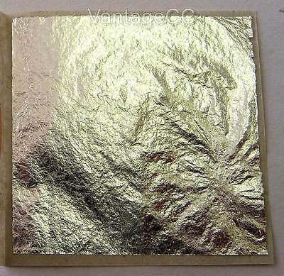 10x 100% Pure 999 Silver Leaf Edible 38mm Sheets Cake Crafts - NOT on BASE!!!