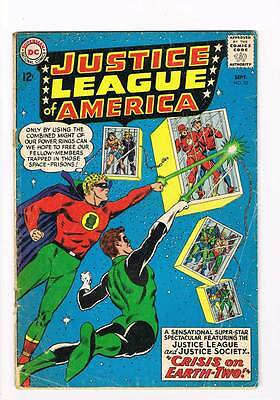 Justice League of America # 22  1st JSA crossover  grade 3.5 scarce hot book !!