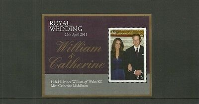 Fiji Sgms1448 Royal Wedding Minisheet Mnh