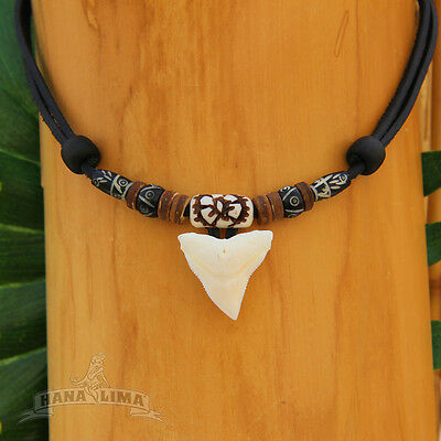 Lavish Handcrafted Sharkfin Pendant Kite Surfer Necklace With Real Shark Tooth
