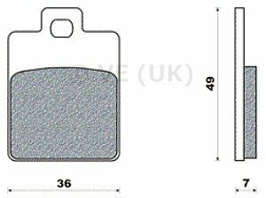 Piaggio Nrg Power Lc Brake Pads Front Or Rear