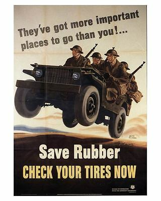 1943 Willys Military Jeep WWII Photo of Poster ca0039