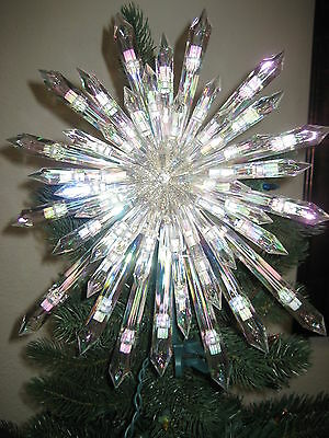 HOLIDAY CLASSICS 50 LIGHTS CRYSTAL TREE TOP - NEW W BOX