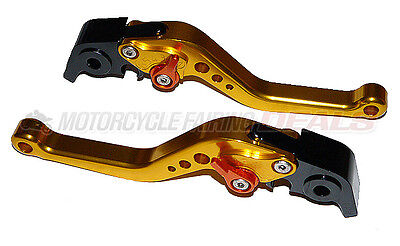 Ducati S4RS Multistrada 1200 Adjustable Shorty Brake Clutch Lever Gold Color